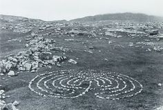 This #landart by Richard Long combines culture (the #labyrinth) and nature (material, site)