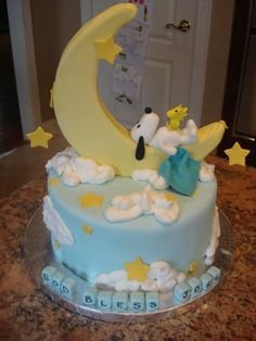 snoopy cake I want this for my far future baby shower