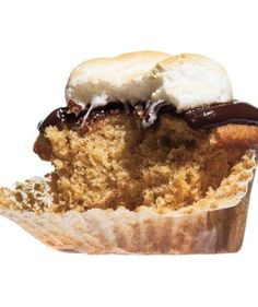 S'mores Cupcakes: Perfect for a backyard barbecue, this tasty cupcake highlights all the flavors of the favorite campfire treat—graham cracker crumbs in the batter, bittersweet chocolate ganache on top, and a toasted marshmallow garnish.