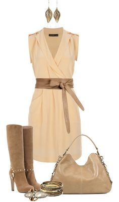 """Wrap Dress Casual"" by angela-windsor on Polyvore"