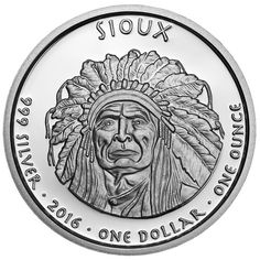 2016 1 oz Proof South Dakota Sioux Buffalo Silver Coins from JM Bullion™