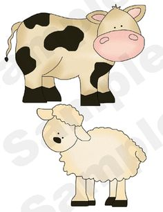 Farm Barnyard Animals Sheep Cow Pigs Baby Nursery Childrens Wall Stickers Decals | eBay