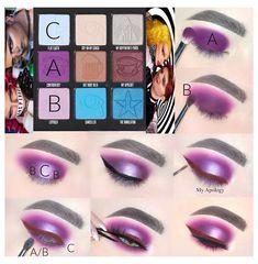 Black Eyeshadow Makeup, Makeup Vs No Makeup, Makeup Eye Looks, Eye Makeup Steps, Star Makeup, Peach Eyeshadow, Makeup Brushes, Eyeshadow Palette, Maybelline Eyeshadow