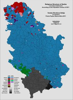 Ethnic map of Serbia, 2011 census by Lazar Greece Today, Teaching Geography, Central And Eastern Europe, Working Holidays, Historical Maps, Africa Travel, Ethnic, Religion, Blog