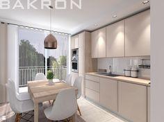 Pokój dzienny z aneksem kuchennym - zdjęcie od BAKRON PROJEKT - Kuchnia - Styl Nowoczesny - BAKRON PROJEKT