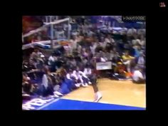 Michael Jordan makes the dunk