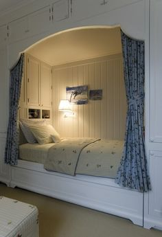 Built-in bed. I like the fact that there is storage in the space also.