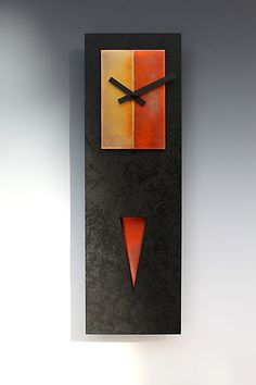 Spike+Pendulum+Clock by Leonie+Lacouette: Wood+Clock available at www.artfulhome.com
