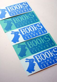 I need to make myself some rabbity bookmarks using my carved stamps.