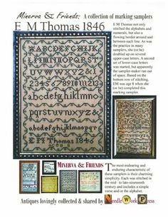 """""""E M Thomas 1846"""" is the title of this cross stitch pattern from Needle Workpress."""