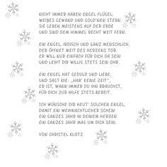 Willkommen in der neuen Woche :o) Heute wird es persönlich! Als ich dieses Gedicht gelesen habe, musste ich sofort an ein paar ganz liebe M...