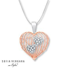 SOFIA VERGARA Necklace Diamonds 10K Gold/Sterling Silver