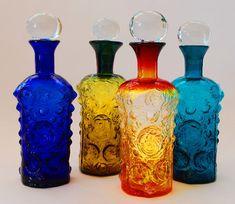 Potions:  Blenko Glass #potion bottles.