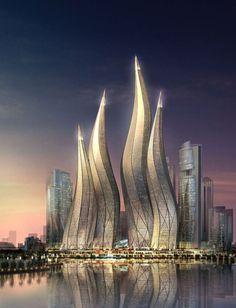 architettura dubai | Diseñado por Tvsa, estas torres están pensadas para modificar ...