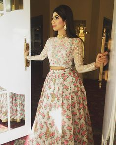 Floral lengha by Allechant Couture