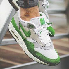 Patta x Nike Air Max 1 - Spring Green #Nike #AirMax #Patta #Sneaker #White #Grey #Spring #AM1 #2009