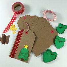 DIY Holiday Christmas Gift Tag Kit (Makes 12)