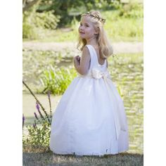 Celeste spotted tulle designer flower girl dress little eglantine Designer Flower Girl Dresses, Wedding Flower Girl Dresses, Flower Girls, Luxury Wedding, Elegant Wedding, Dream Wedding, Wedding Stuff, Wedding Ideas, Luxury Flowers