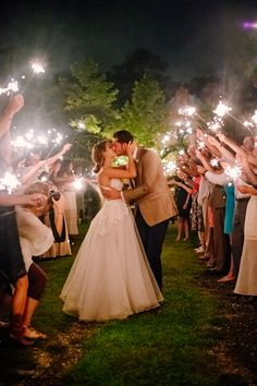 Sparkler Wedding Send Off | Dreamy Woodland Wedding | Created Image Photography
