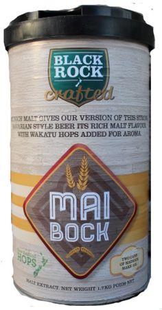 Black Rock Crafted Maibock  Maltul de tip  Munich si Lager este combinat pentru un gust de malt bogat, la care se adauga o selectie de hamei din Noua Zeelanda pentru amareala moderata. O cantitate suplimentara de hamei Wakatu adaugata in momentul ambalarii duce la note subtile de citrice.   Ingrediente: Malt – Munich, Lager Hamei – Green Bullet, Pacific Gem, Wakatu Apa pura din Noua Zeelanda Drojdie premium sub capac.  Culoare: 16 EBC Grad amareala: 16 EBU  Alergeni: gluten