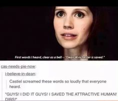 I don't ship Destiel but this is funny!