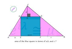 Area of the inscribed Square Calculus, Algebra, Plane Geometry, Purple Bedding Sets, Math Problems, Formulas, Science, Arithmetic, Manualidades