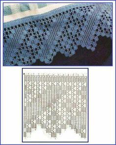 Risultati immagini per miria croches e pinturas Filet Crochet, Crochet Lace Edging, Crochet Leaves, Crochet Motifs, Crochet Borders, Crochet Diagram, Crochet Stitches Patterns, Doily Patterns, Thread Crochet