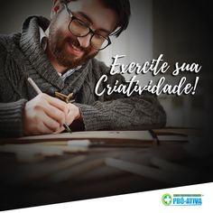 Uma boa forma de exercitar sua criatividade é escrevendo, muitas vezes as pessoas estão com tantas coisas na cabeça que não conseguem encontrar soluções criativas para tamanha explosão de ideias. Se você está sofrendo com isso, apenas escreva, passe para o caderno tudo o que têm pensado e criado. Desta forma, você encontrará espaço e ligará pontos propício para o surgimento de ideias criativas e geniais 💡 #ProAtiva #Criatividade #MenteCriativa #Escrita #Ideias #Soluções #Interessantes…