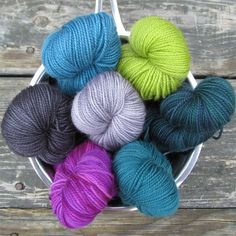 Miss Babs Hand-Dyed Yarns & Fibers, Inc. – Veronicas - Veronica's Set includes the following colors: Blackwatch, Coos Bay, Ghoulish, Impatiens, Pewter, Provence, and Rainforest.