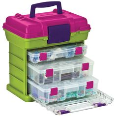 Creative Options Grab & Go Medium Rack Systems Magenta/Avocado at Joann.com for Rainbow Loom storage option