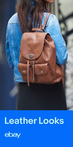 The backpack gets a sleek update in leather. Sling one of these over your shoulder this fall. Search eBay for leather backpacks.