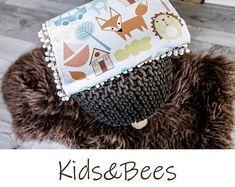 For unique babies-baby blankets, baby bedding. by KidsandBeesBaby Baby Bedding, Unique Baby, Textile Design, My Works, Bee, Crochet Hats, Nursery, Textiles, Blanket