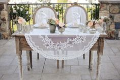 Vintage meets rustic sweetheart table.  Check out the blog about tips on how to have a showstopping sweetheart table @ justbethebride.com!