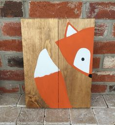AmazonSmile: 10x14 Stay Clever Little Fox Wood Sign Nursery Decor Baby Shower Gift or Baby Decor: Handmade