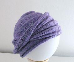 Ravelry: Esprit Chemo Turban pattern by Ann Cannon-Brown Turban Crochet, Knit Crochet, Crochet Hats, Free Crochet, Knitting Designs, Knitting Patterns Free, Knit Patterns, Free Knitting, Chemo Caps Pattern