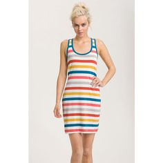French Connection Stripe Tank Dress ❤ liked on Polyvore