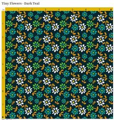 Tiny Flowers - 1930's style flower pattern - free for use with Adobe Illustrator