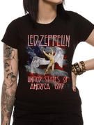 Officially licensed Led Zeppelin t-shirt design printed on a 100% cotton short sleeved T-shirt.