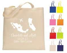 Destination Tote Bags State to State Favors Gifts and Mementos Personalized Tote Bags Welcome Bags Wedding Favors 1228 1091 1147 by SipHipHooray