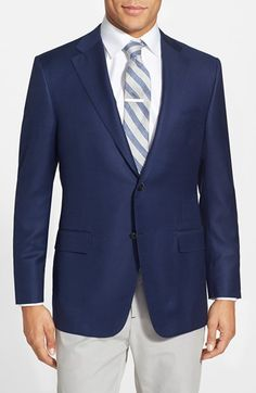 Hickey Freeman 'Traveler' Classic Fit Wool Blazer available at #Nordstrom