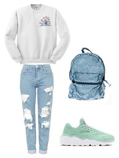 to London 2 by petra-fia on Polyvore featuring Topshop and NIKE