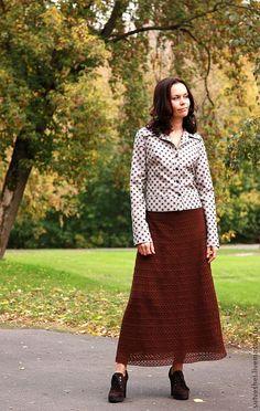 Купить Юбка Шоколадная фантазия - коричневый, однотонный, тесьма декоративная, шоколадный цвет, юбочка