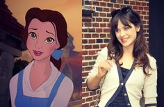 If Disney Characters Had Celebrity BFF's - Babble I would love for Zooey and Belle to be best friends.