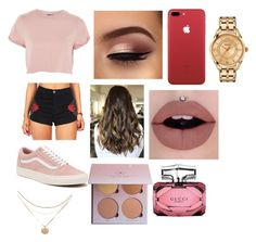 """""""Untitled #506"""" by thahera00 on Polyvore featuring Topshop, Vans, Versace and Gucci"""
