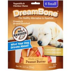 Dreambone Real Peanut Butter Flavored Vegetable and Chicken Dog Chew Treats (Rawhide Free) 11oz-12oz Bag (Pack of 3 Bags) Select Treat Size Below * For more information, visit now : Dog treats
