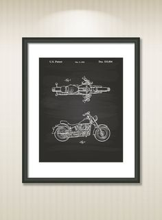 Vintage blueprints for famous inventions prints pinterest harley davidson 1993 patent art illustration drawing by tawerart malvernweather Choice Image