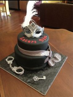 Birthday/Bachelorette Party Cakes Inspired by the Fifty Shades of Grey Trilogy