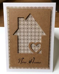 New home Card made with my Cameo