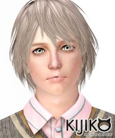 Walnut hair for males by Kijiko - Sims 3 Downloads CC Caboodle