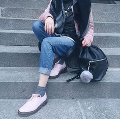 The Bubblegum Virginia 1461 Shoe, shared by cannibalecore.